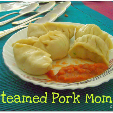 Quick Steamed Pork Momo (Dumpling)