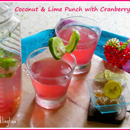 Coconut Lime Punch with Cranberry Twist