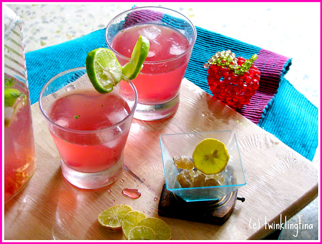 coconut lime punch with cranberry