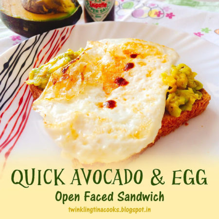 QUICK AVOCADO AND EGG OPEN SANDWICH