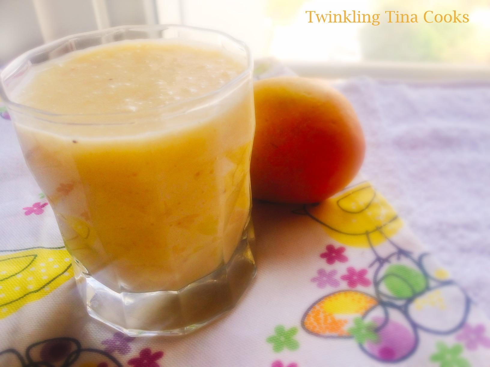 mango banana smoothie, smoothie recipe, blender smoothie, healthy smoothie
