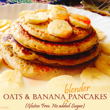 OATS BANANA BLENDER PANCAKES