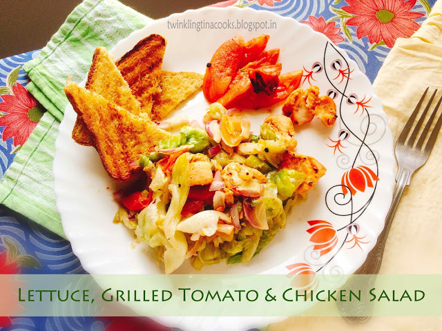 lettuce-grilled-tomato-chicken-salad, salad,