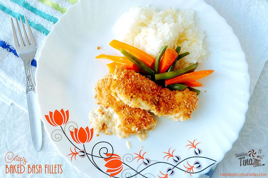 baked basa fish, crispy basa recipe, basa recipe, crispy basa recipe, basa fillet