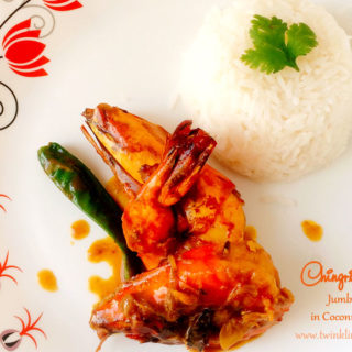 Chingri Malaikari or Bengali Style Jumbo Prawn cooked in coconut milk gravy