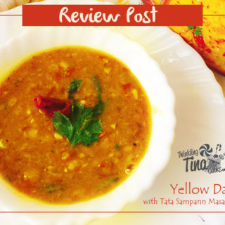 Review Post – Yellow Dal Tadka with Tata Sampann Masala