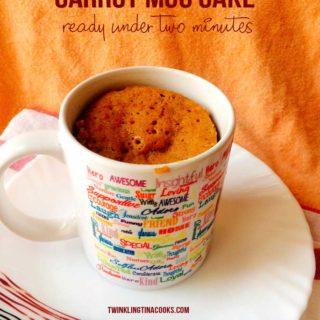 Microwave Carrot Mug Cake – 2 minute mug cake recipe | #AtoZChallenge