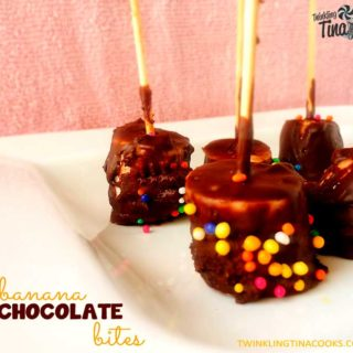 Banana Chocolate Bites – No bake Quick Easy Dessert Recipe