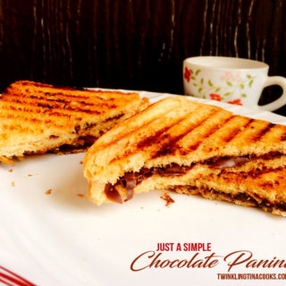 Just Simple Chocolate Panini – Easy Dessert Recipe | AtoZChallenge