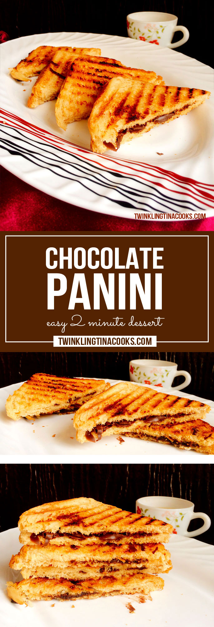 Just Simple Chocolate Panini Easy Dessert Recipe