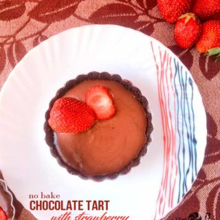 Chocolate Tart with Strawberry – No-Bake Easy Tart Recipe