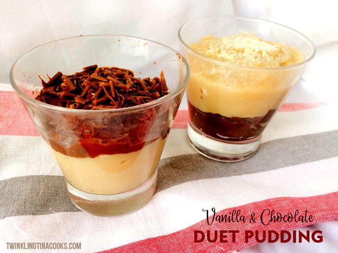 vanilla chocolate pudding