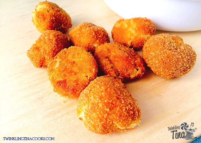 Crispy paneer cheese bites recipe air fryer recipe
