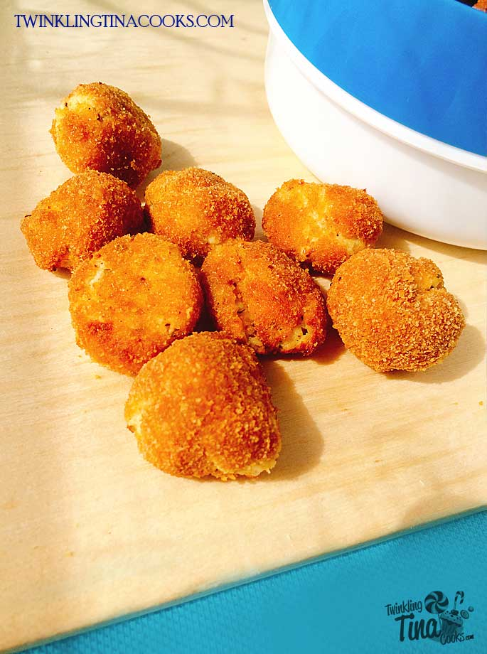 Crispy paneer cheese bites recipe air fryer recipe