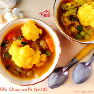 Vegetable Stew Recipe – Vegan gluten free stew with lentils and cauliflower