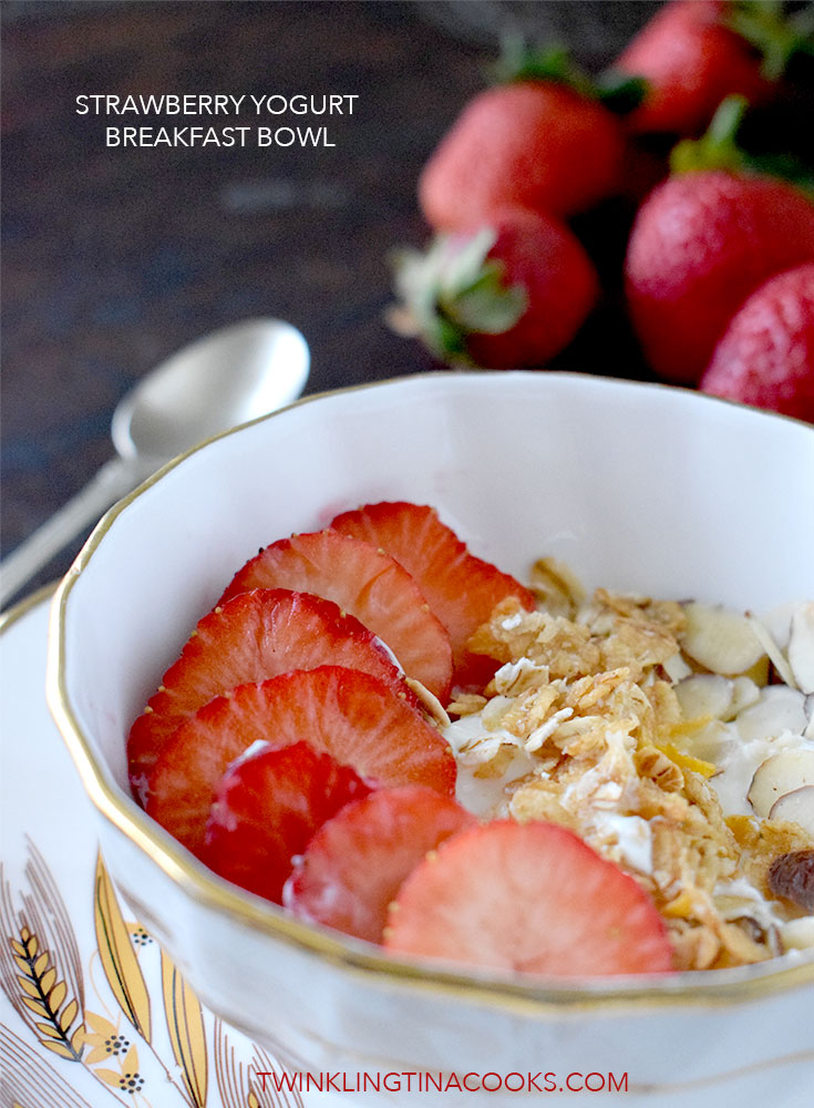 Strawberry yogurt breakfast bowl