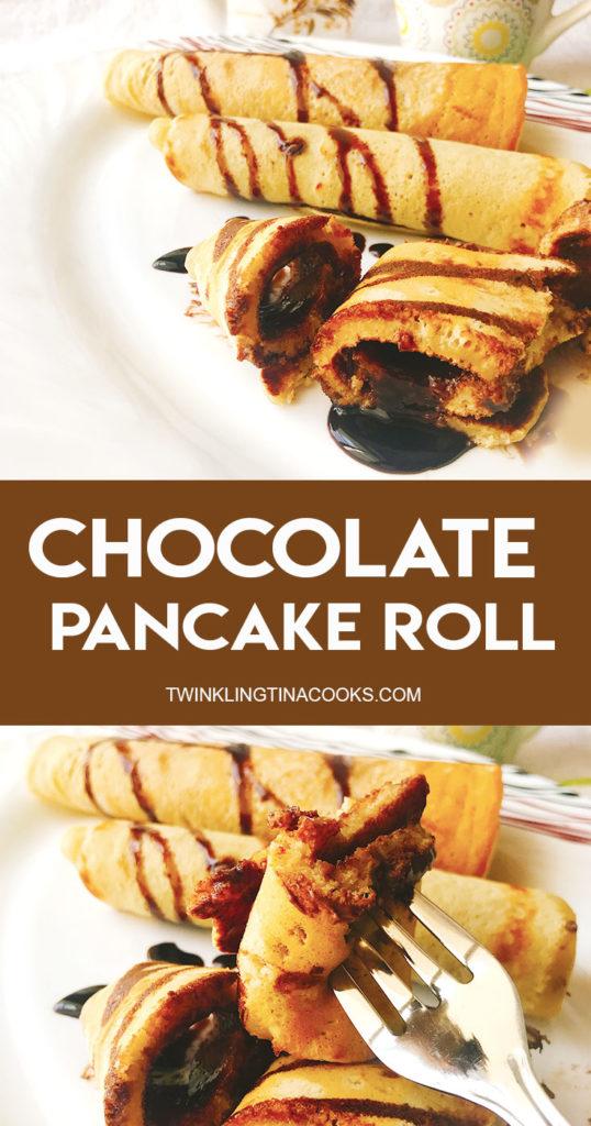 chocolate pancake roll dessert recipe