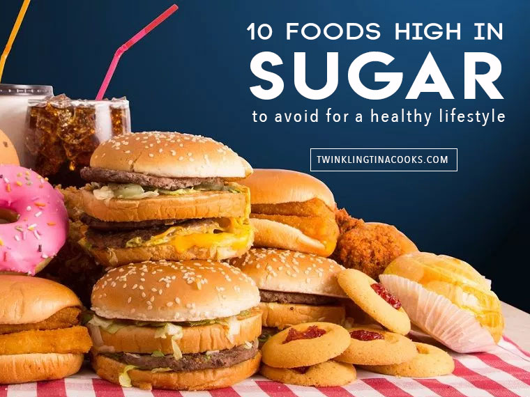 Foods high in Sugar to Avoid