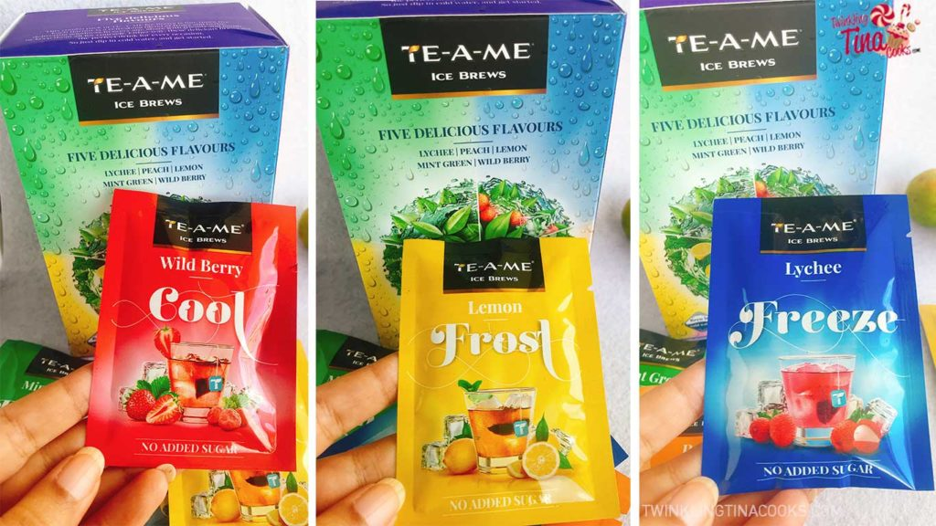 TE-A-ME Ice Brews Flavors